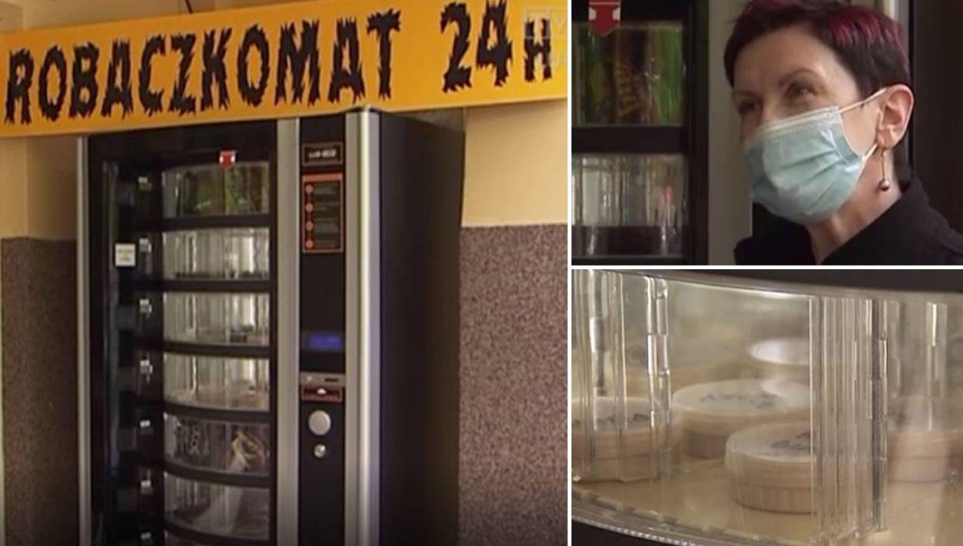 Robaczkomat jest czynny całą dobę (fot. TVP3 Lublin)