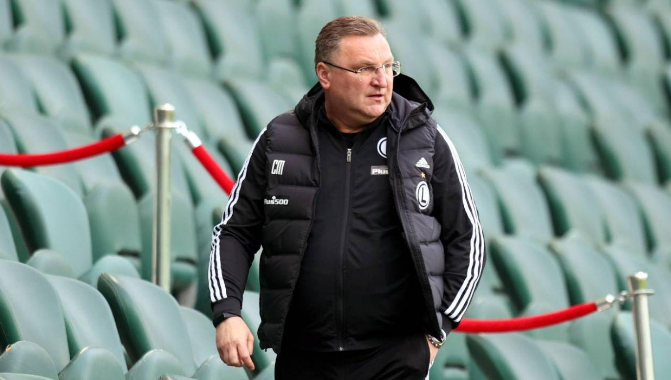 Trener Legii Warszawa Czesław Michniewicz dołączył do drużyny w trakcie sezonu (fot. PAP/Leszek Szymański)