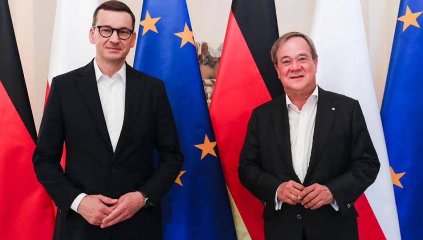 Premier Mateusz Morawiecki i premier Nadrenii Północnej-Westfalii Armin Laschet (fot. FB/Mateusz Morawiecki)