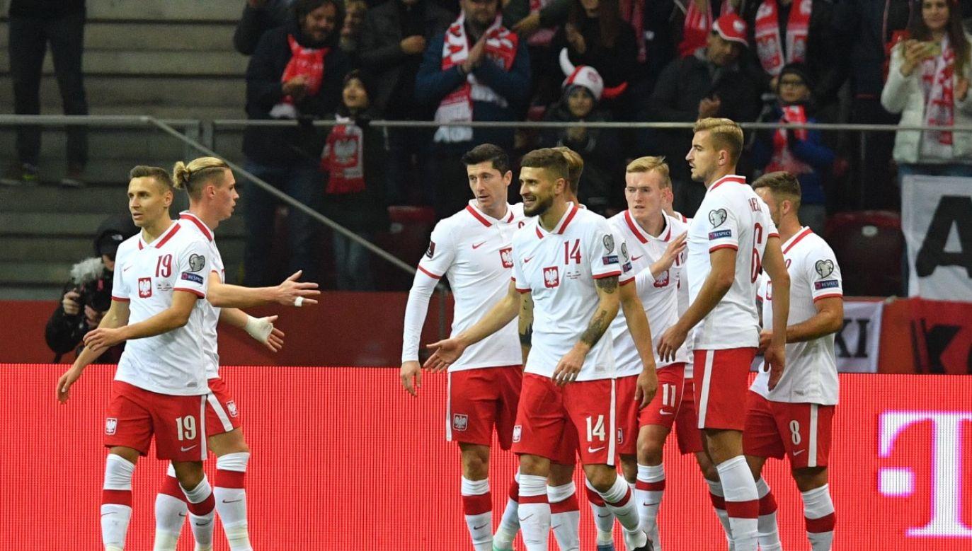 Polska wygrała wysoko, choć nie zachwyciła grą w meczu ze słabiutkim San Marino (fot. PAP/Radek Pietruszka)