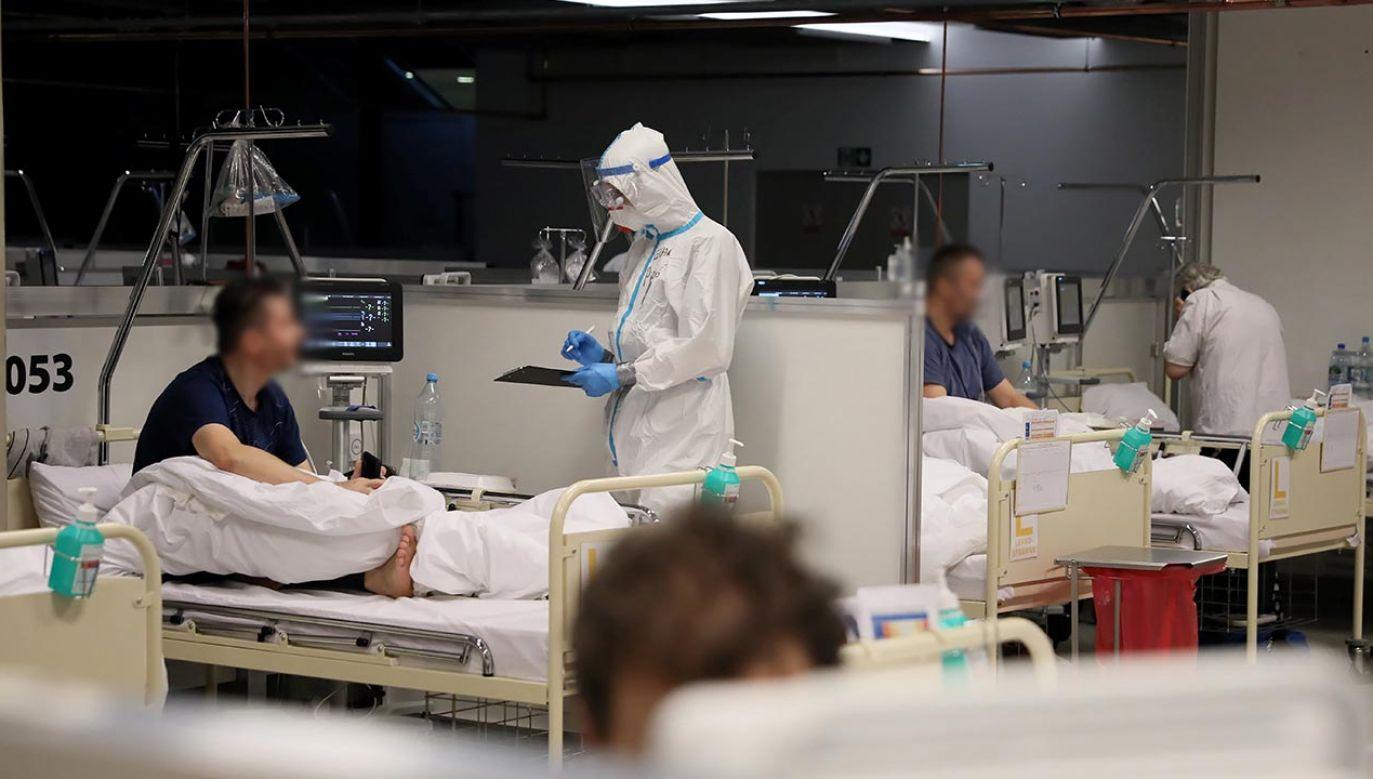 – Opozycja robi wszystko, żeby zdezawuować ten szpital – mówi dr Nasiłowski (fot. PAP/Leszek Szymański)