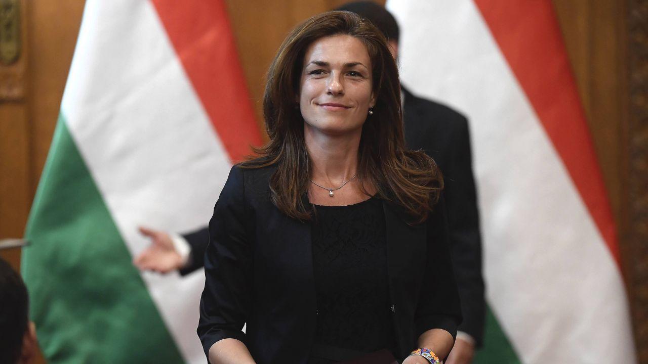 Minister sprawiedliwości Węgier Judit Varga (fot. MTI Fotó: Kovács Tamás, PAP)