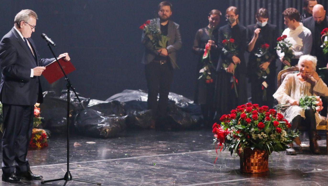 Wicepremier Piotr Gliński: o wielkości artysty nie świadczą jedynie liczby zagranych postaci czy zdobytych nagród (fot.TT/Ministerstwo Kultury i Sportu)