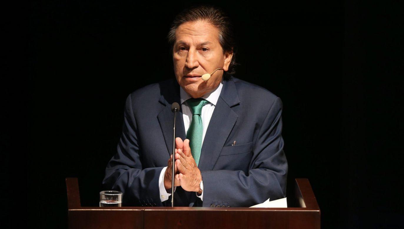 Alejandro Toledo miał przyjąć od Odebrechtu 20 mln dolarów łapówki (fot. arch.PAP/EPA/ERNESTO ARIAS)