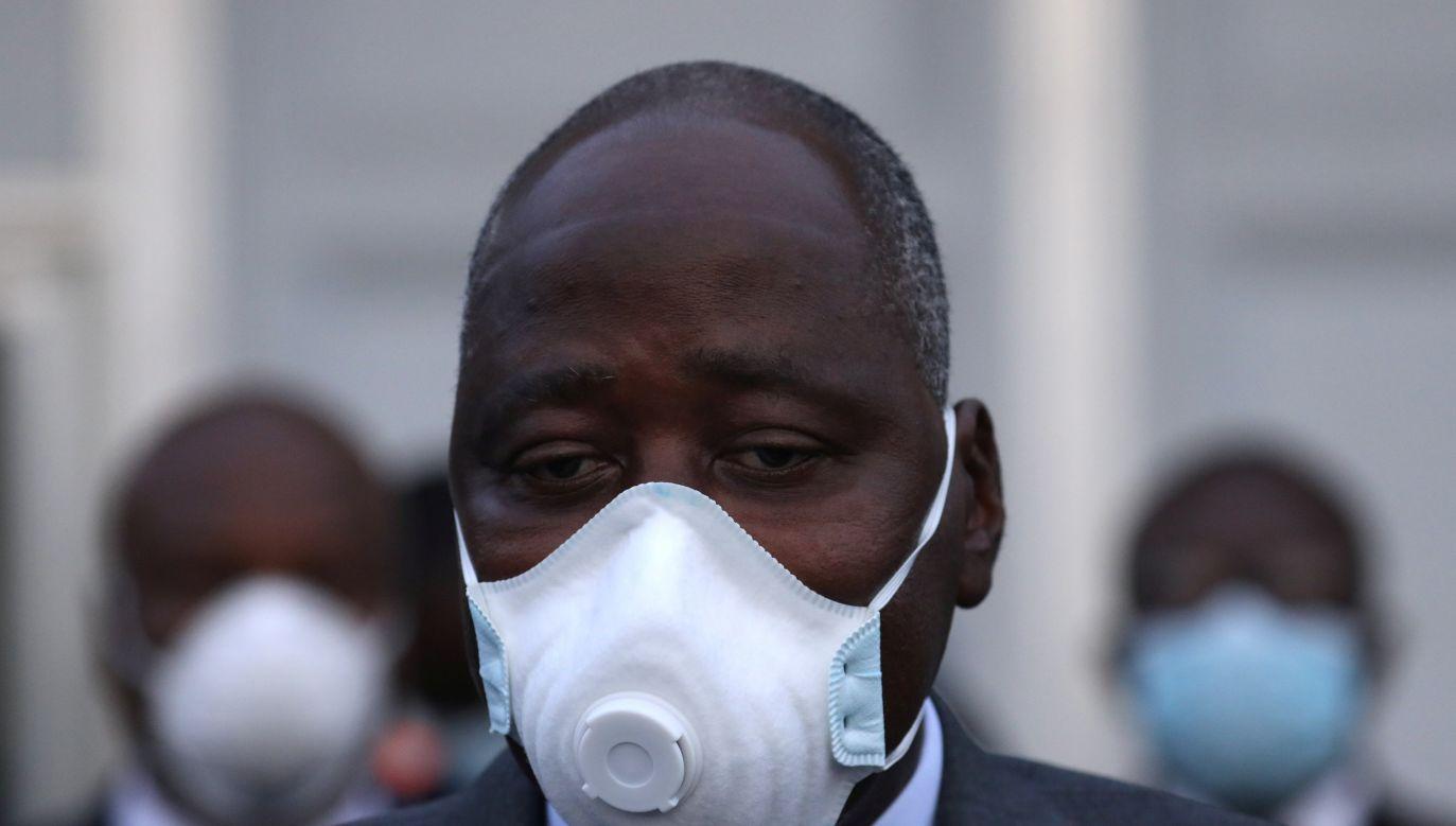 Jego śmierć może wywołać zamieszanie w rządzącym bloku RHDP (Luc Gnago/Reuters)