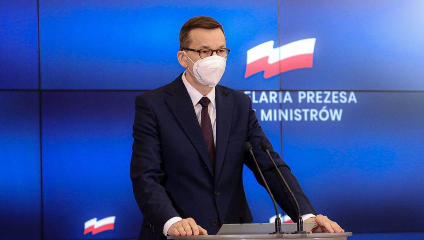 Morawiecki mówił też, jak widzi przyszłość Zjednoczonej Prawicy (fot. Krystian Maj/KPRM)