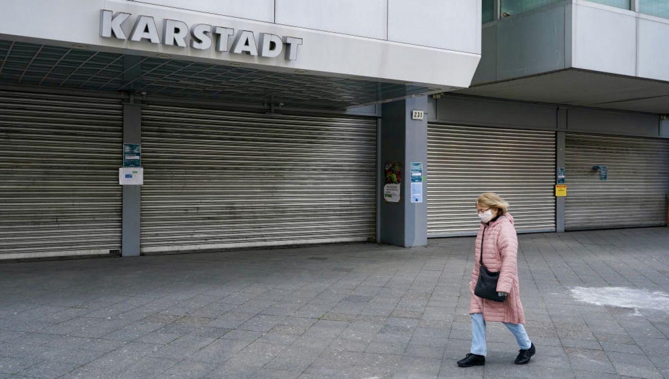 Pandemia koronawirusa spowolniła niemiecką gospodarkę (fot. Sean Gallup/Getty Images)
