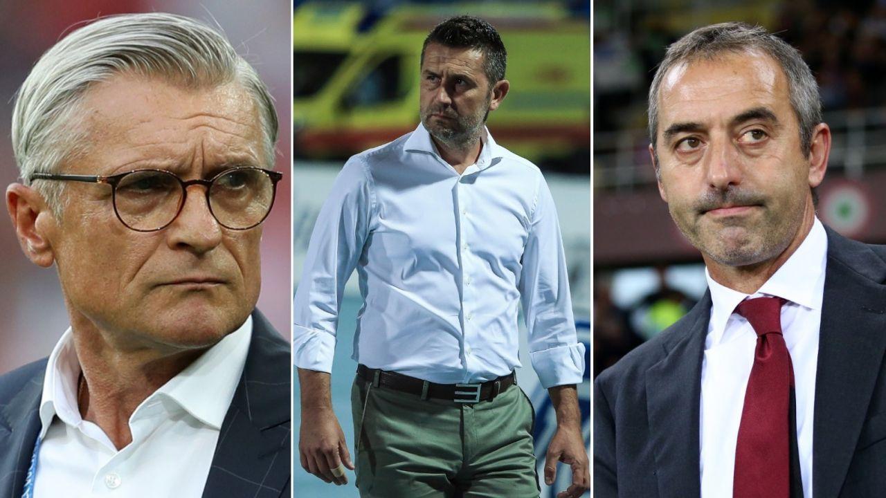 Adam Nawałka (L), Nenad Bjelica (Ś) i Marco Giampaolo (fot. Getty Images)