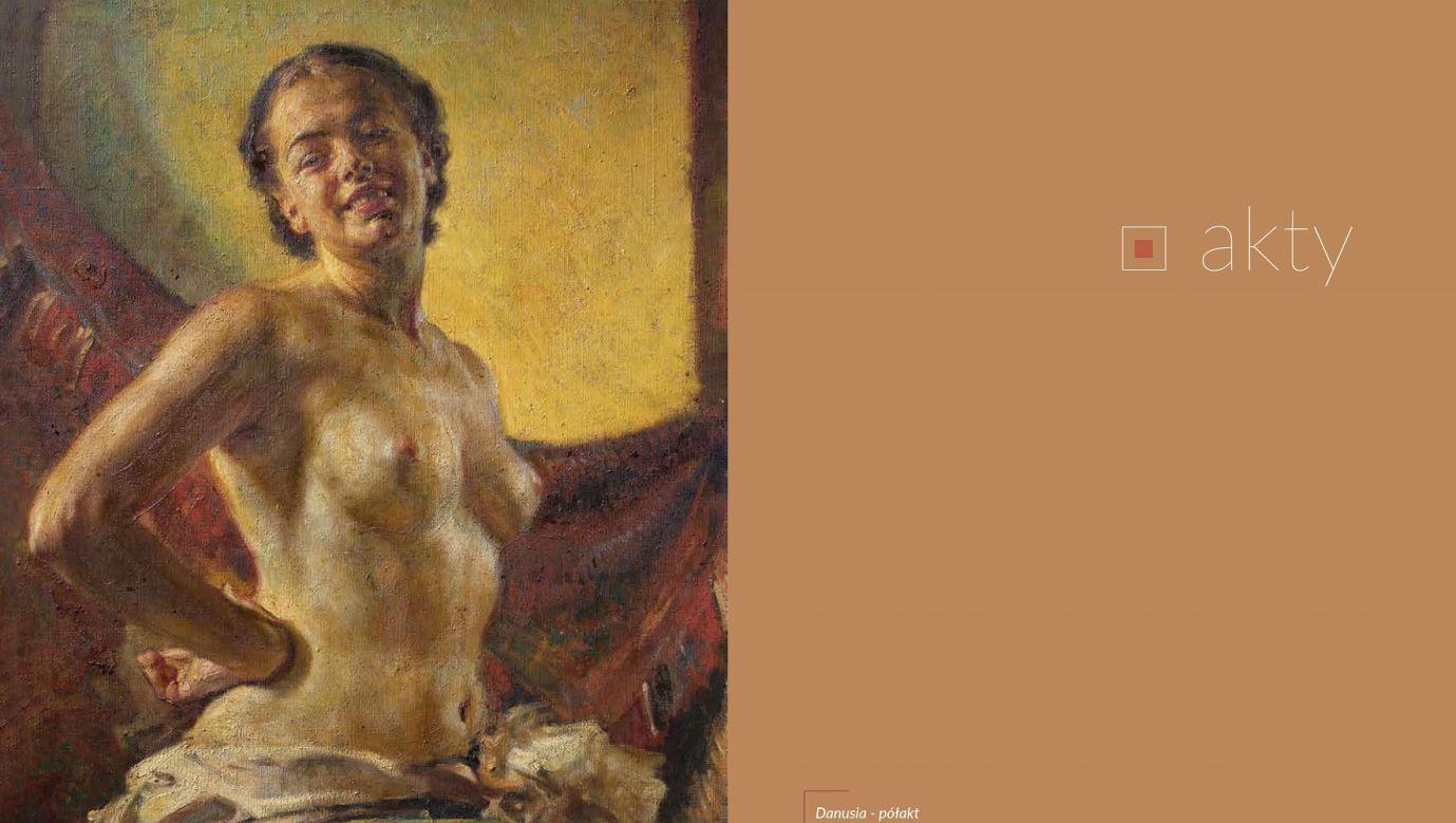 Danuta Szaflarska pozowała do aktu w jego pracowni mając zaledwie 17 lat. Fot. Piotr Droździk, album o Bolesławie Barbackim