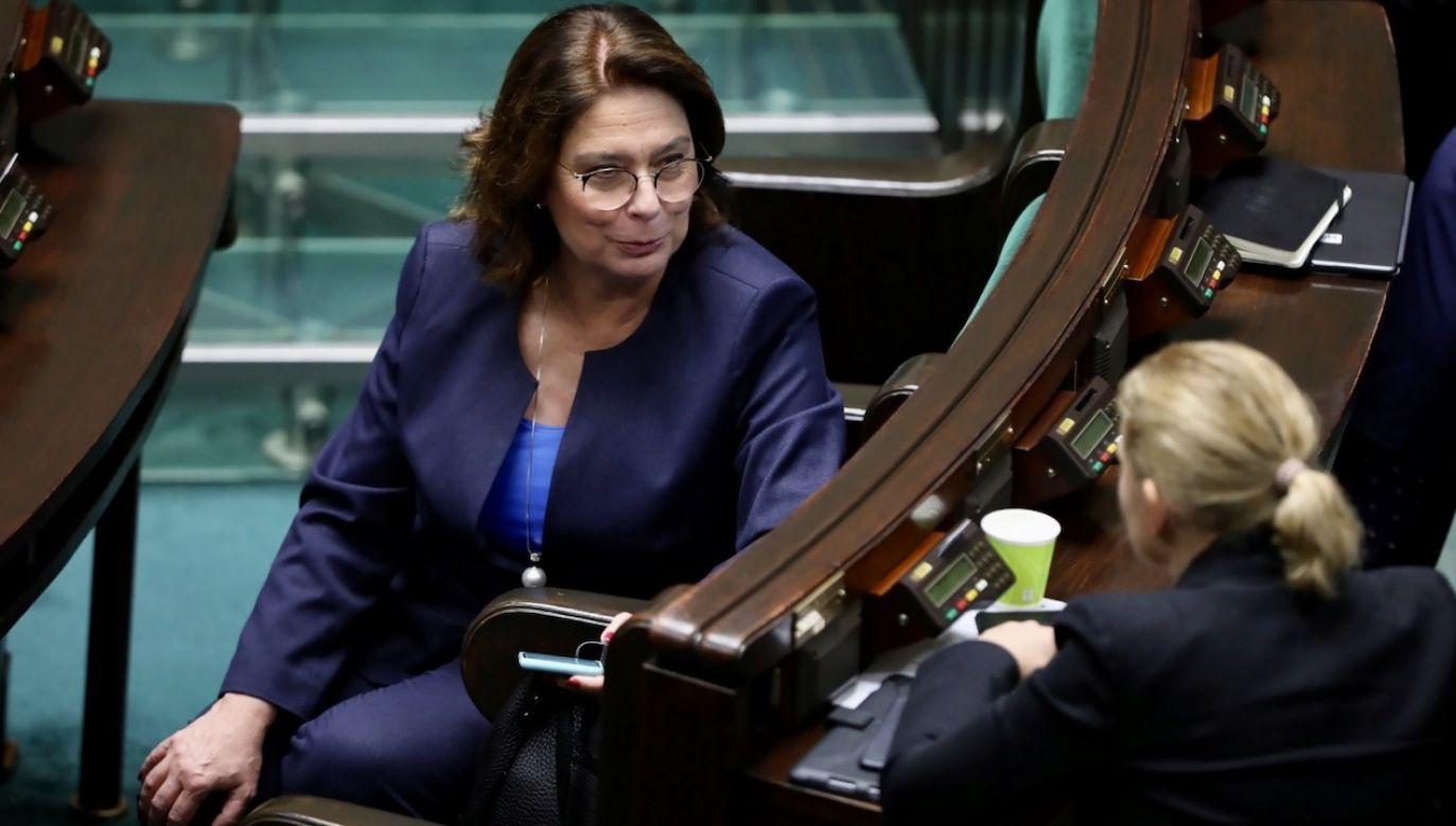Małgorzata Kidawa-Błońska była kandydatką PO w wyborach prezydenckich; zastąpił ją Rafał Trzaskowski  (fot. PAP/Wojciech Olkuśnik)