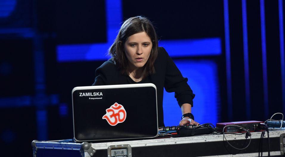 Podsumowaniem czwartego dnia festiwalu był set w wykonaniu Zamilskiej (fot. I. Sobieszczuk/TVP)