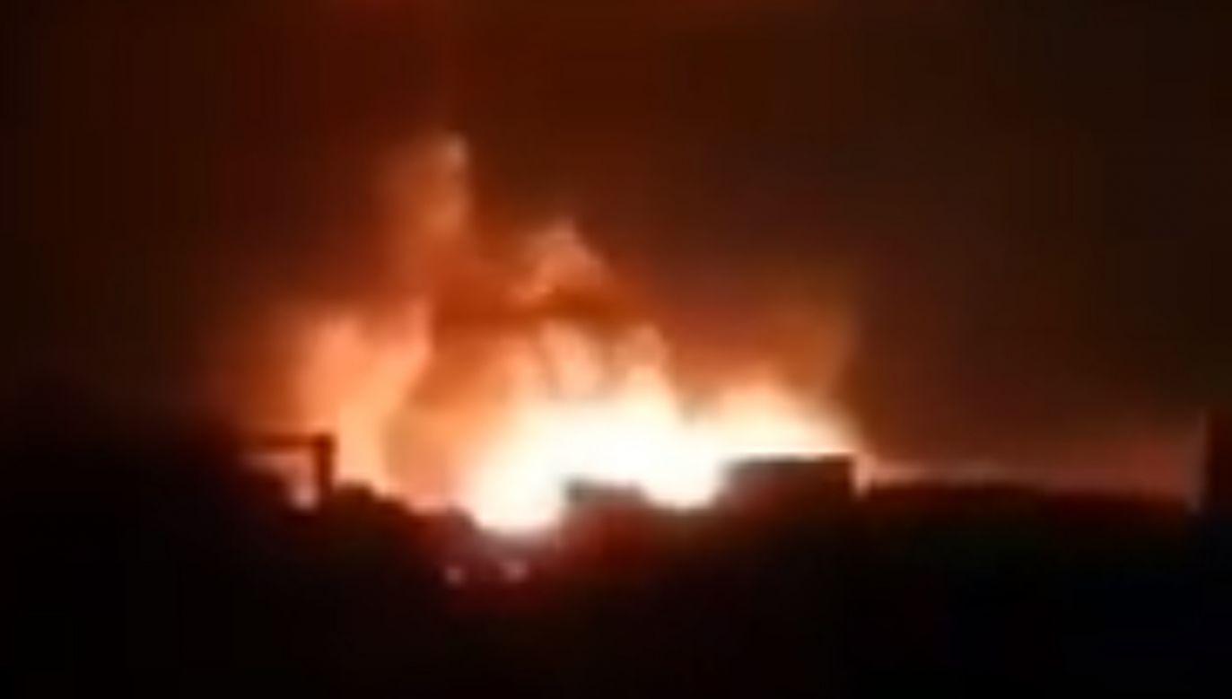 Izraelskie naloty na irańskie siły Quds Force  w pobliżu syryjskiej stolicy Damaszku (fot. źródło Twitter/@zahidmalik40)