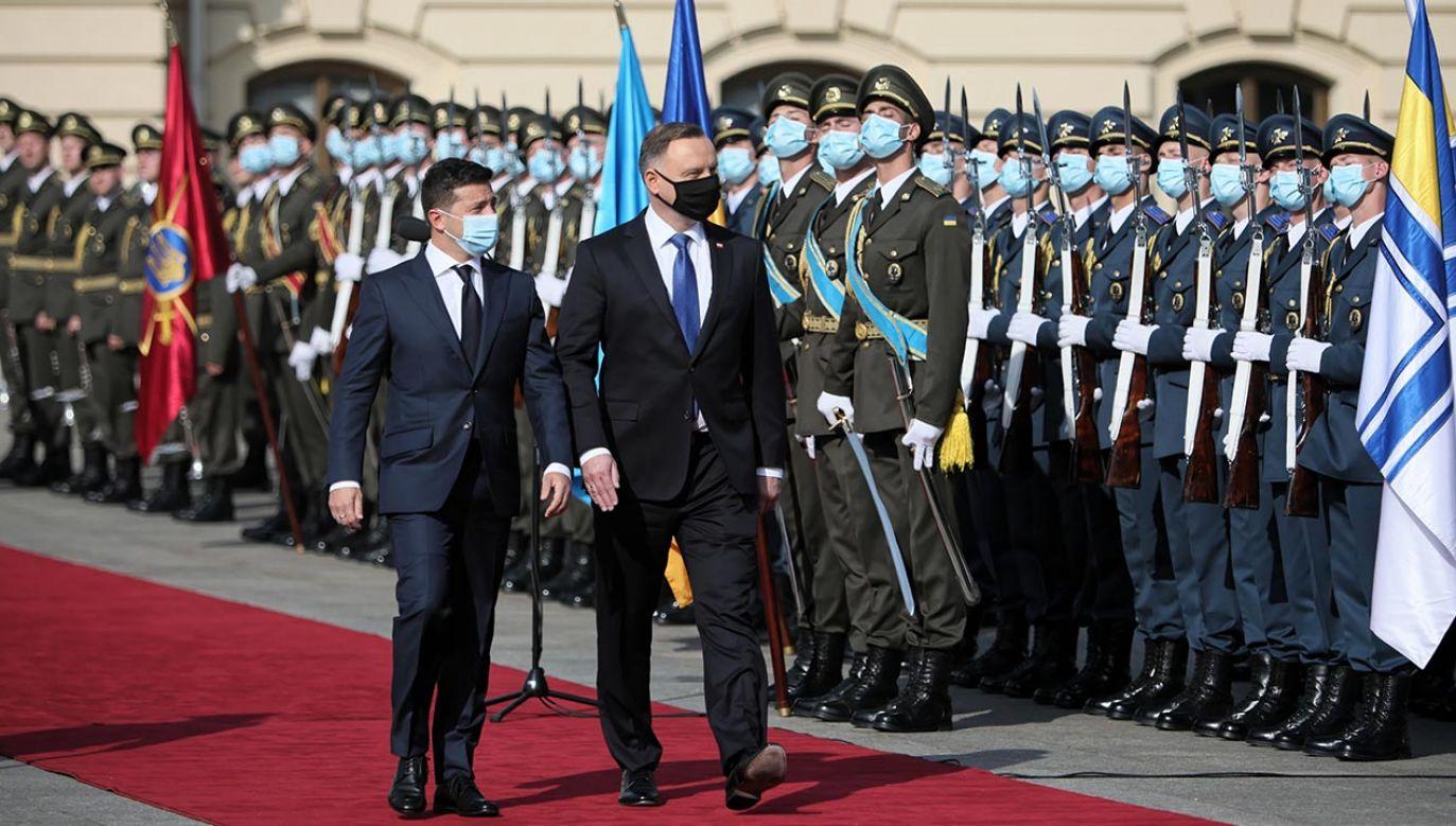 Prezydent Polski Andrzej Duda i prezydent Ukrainy Wołodymyr Zełenski (fot. PAP/Leszek Szymański)