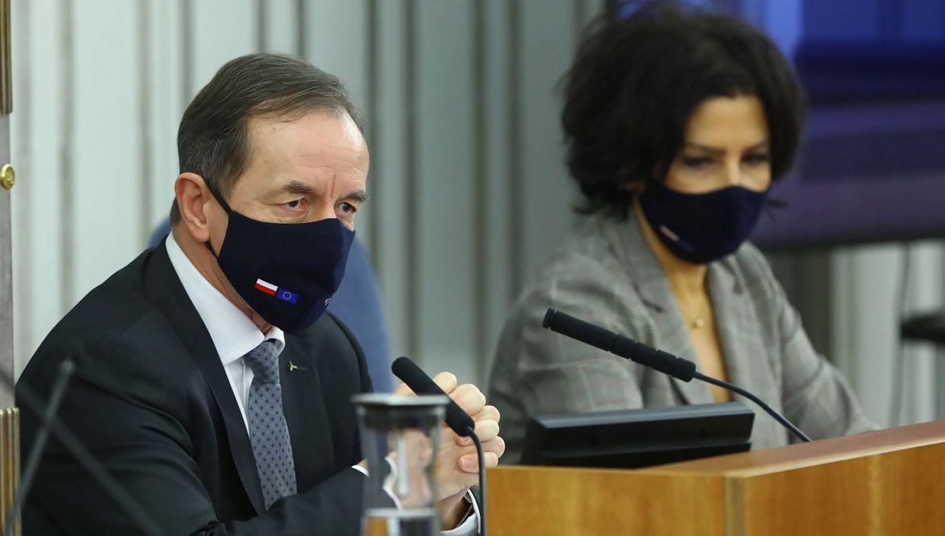 Dzień wcześniej Tomasz Grodzki wygłosił orędzie (fot PAP Rafał Guz)
