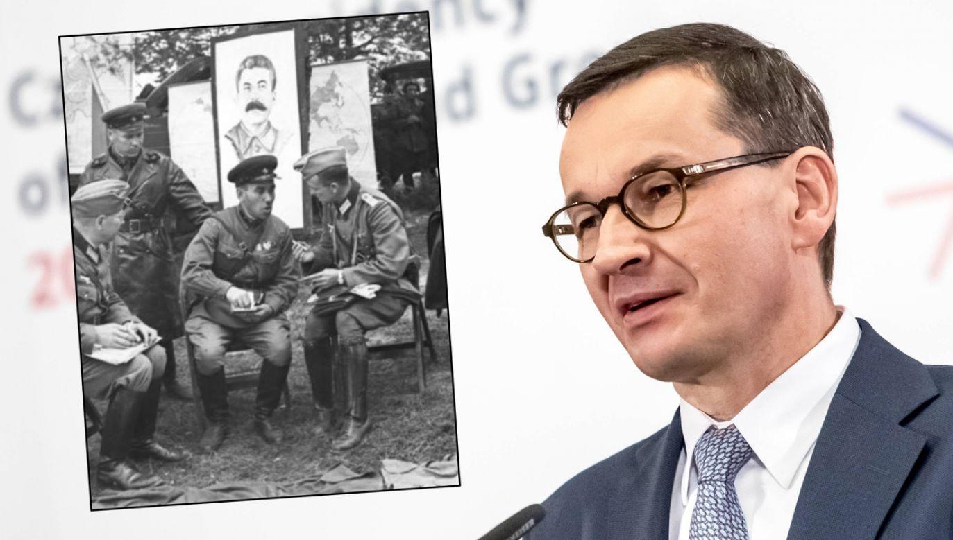 Premier Mateusz Morawiecki zmieścił wpis na Facebooku (fot. arch.PAP/MARTIN DIVISEK, Facebook/Bundesarchiv)