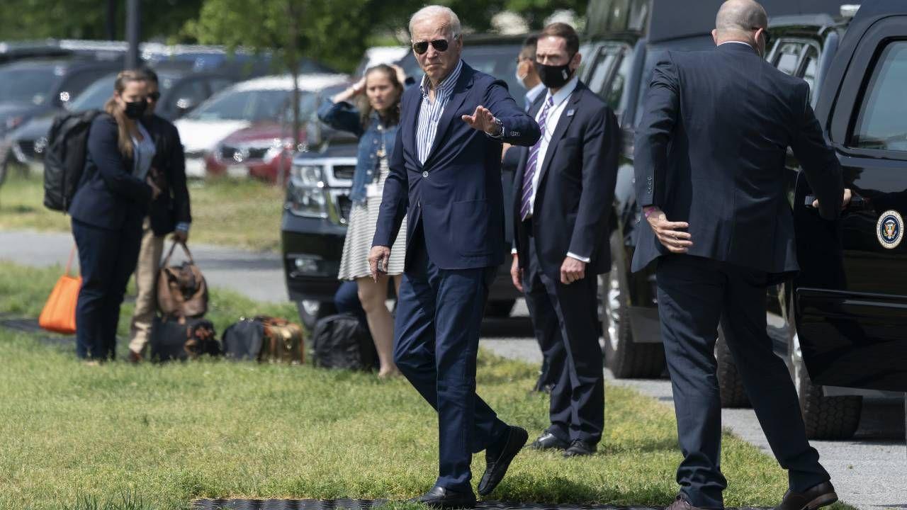 Prezydent USA Joe Biden (fot. PAP/EPA/CHRIS KLEPONIS / POOL)