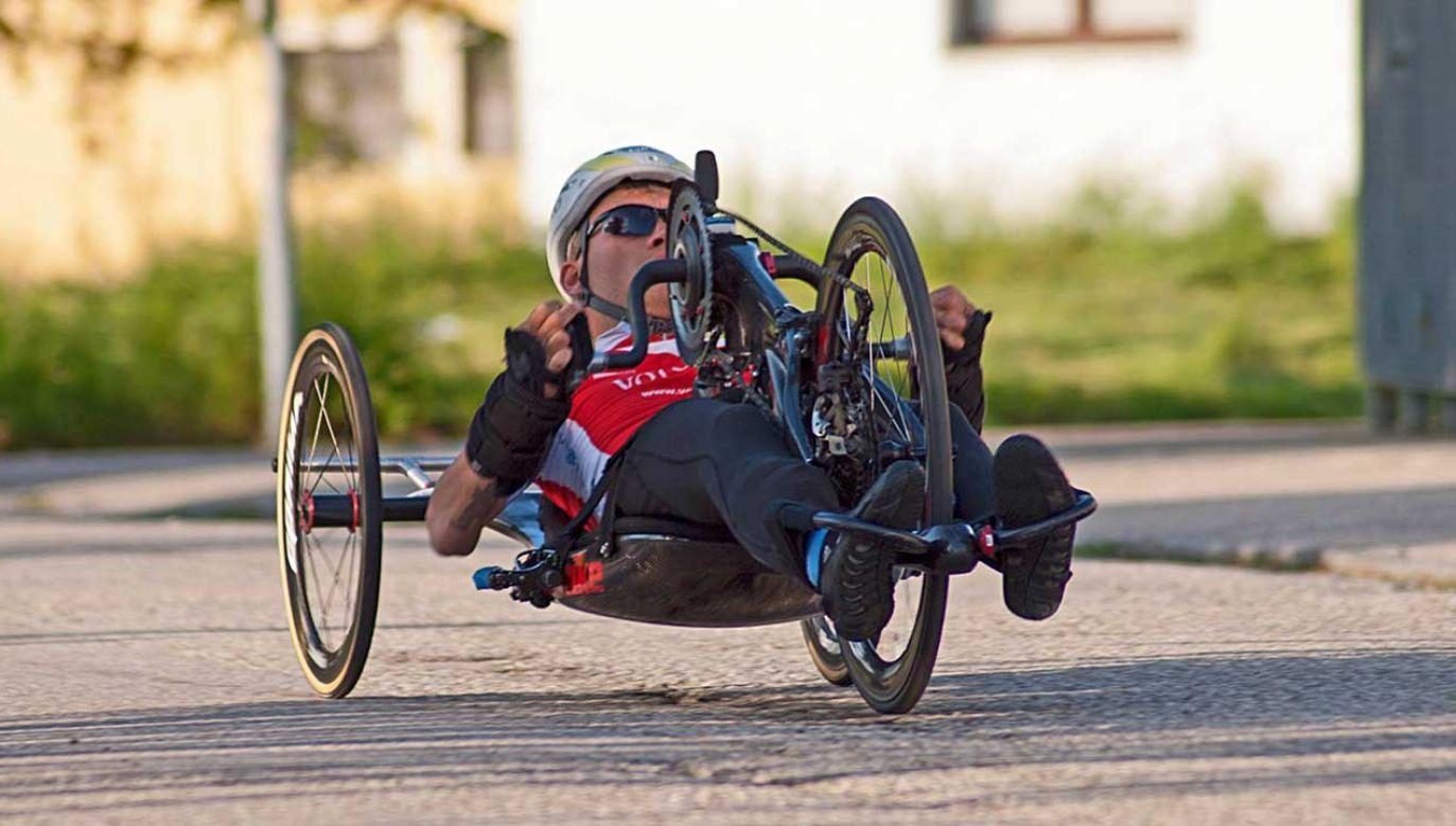 Paraolimpijski mistrz świata Rafał Mikołajczyk przygotowywał się do kolejnych zawodów (fot. FB/Karol Malec)