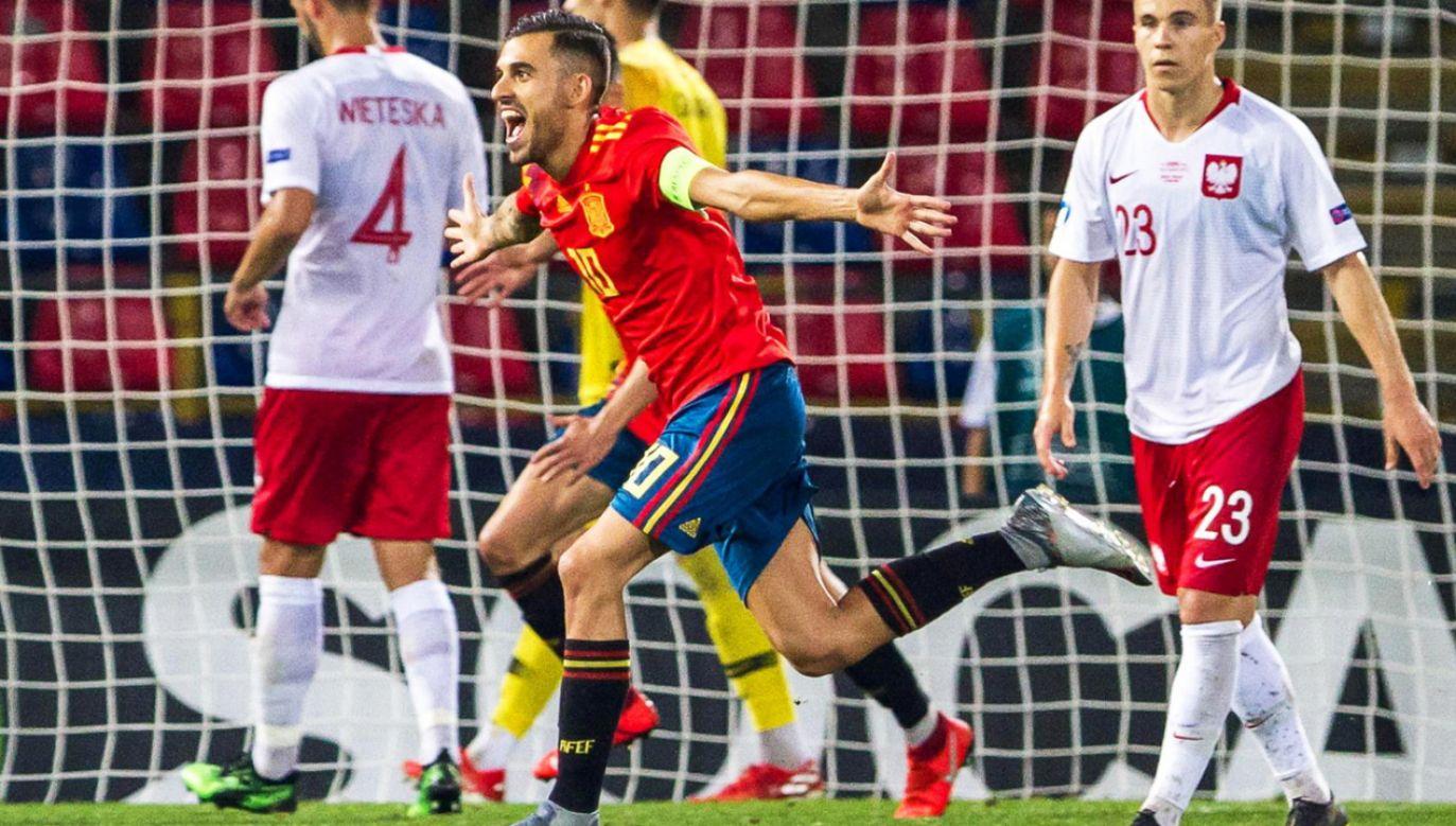 Biało-czerwoni ponieśli porażkę w meczu z Hiszpanią 0:5   (fot. PAP/EPA/ALFIO GUARISE)