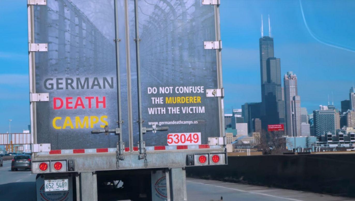 Organizatorzy akcji chcą w ten sposób edukować Amerykanów o Holokauście (fot. yt/germandeathcamps.us)