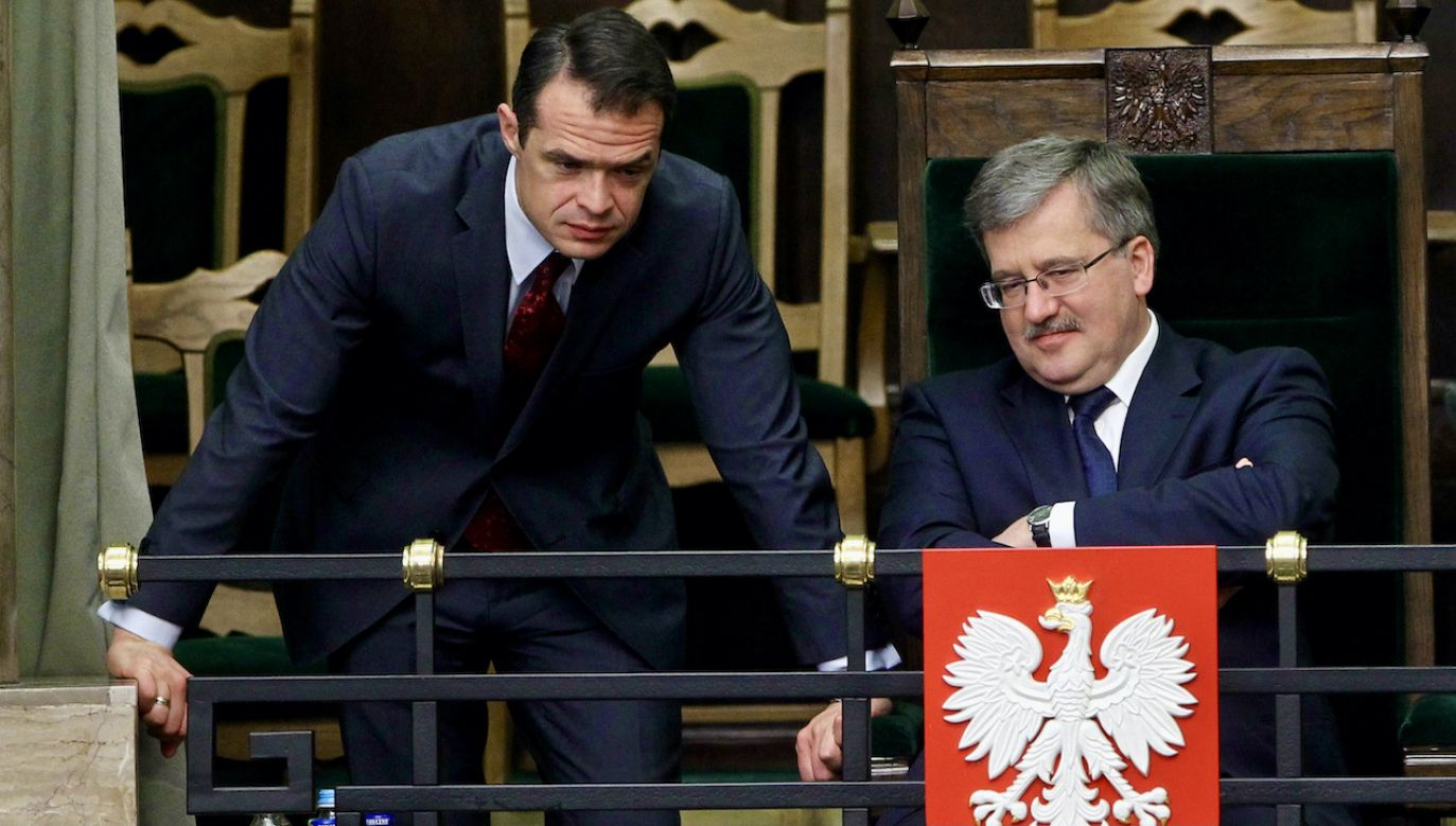 Sławomir Nowak i Bronisław Komorowski w Sejmie w marcu 2011 roku (fot. arch.PAP/Radek Pietruszka)