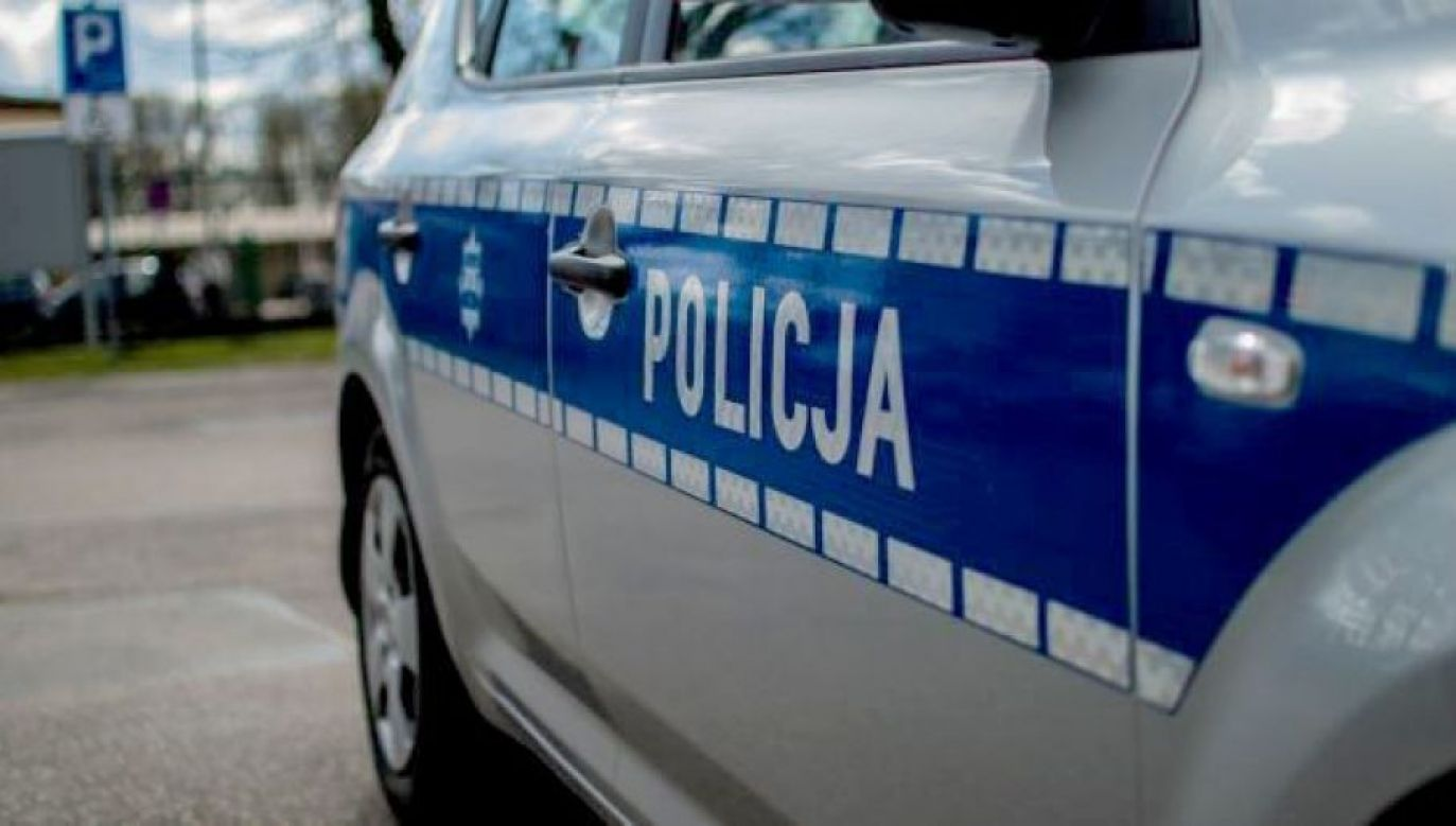 Policja wprowadziła objazd (fot. tvp.info/Paweł Chrabąszcz)