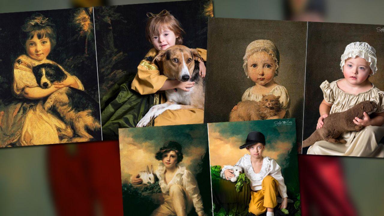 Dzieci pozowały jak na starych obrazach (fot. Facebook/Soela Zani)