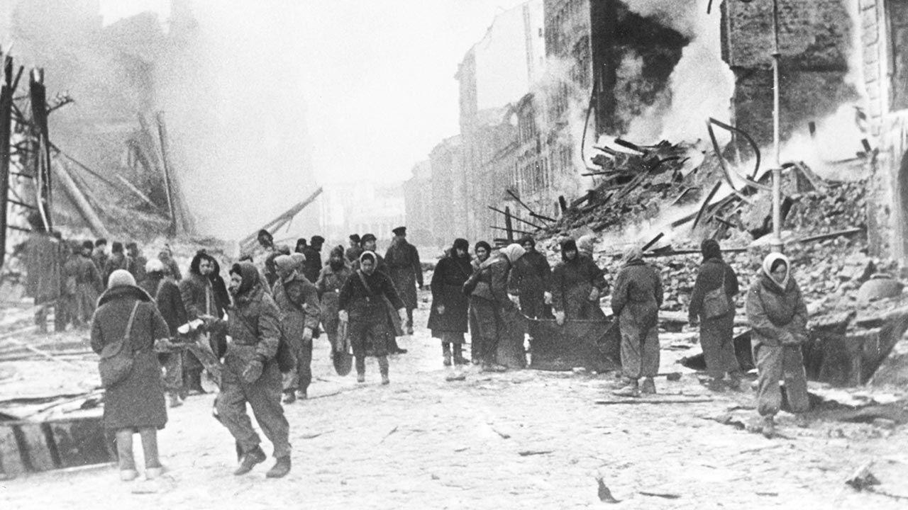 Blokada Leningradu została przełamana 27 stycznia 1944 r. (fot. Sovfoto/Universal Images Group via Getty Images)