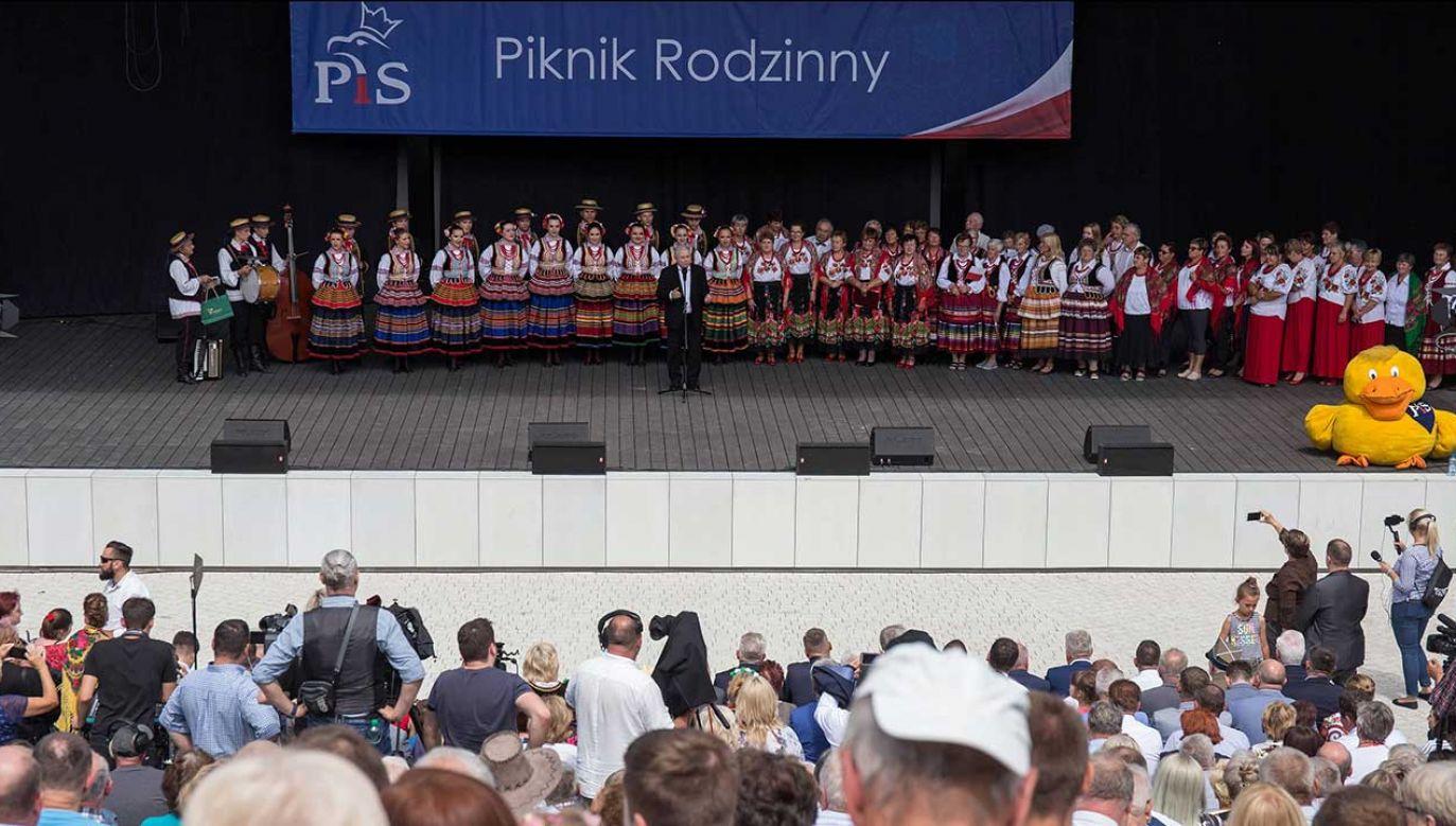 Prezes PiS Jarosław Kaczyński będzie stał na czele listy w okręgu warszawskim (fot. PAP/Wojtek Jargiło)