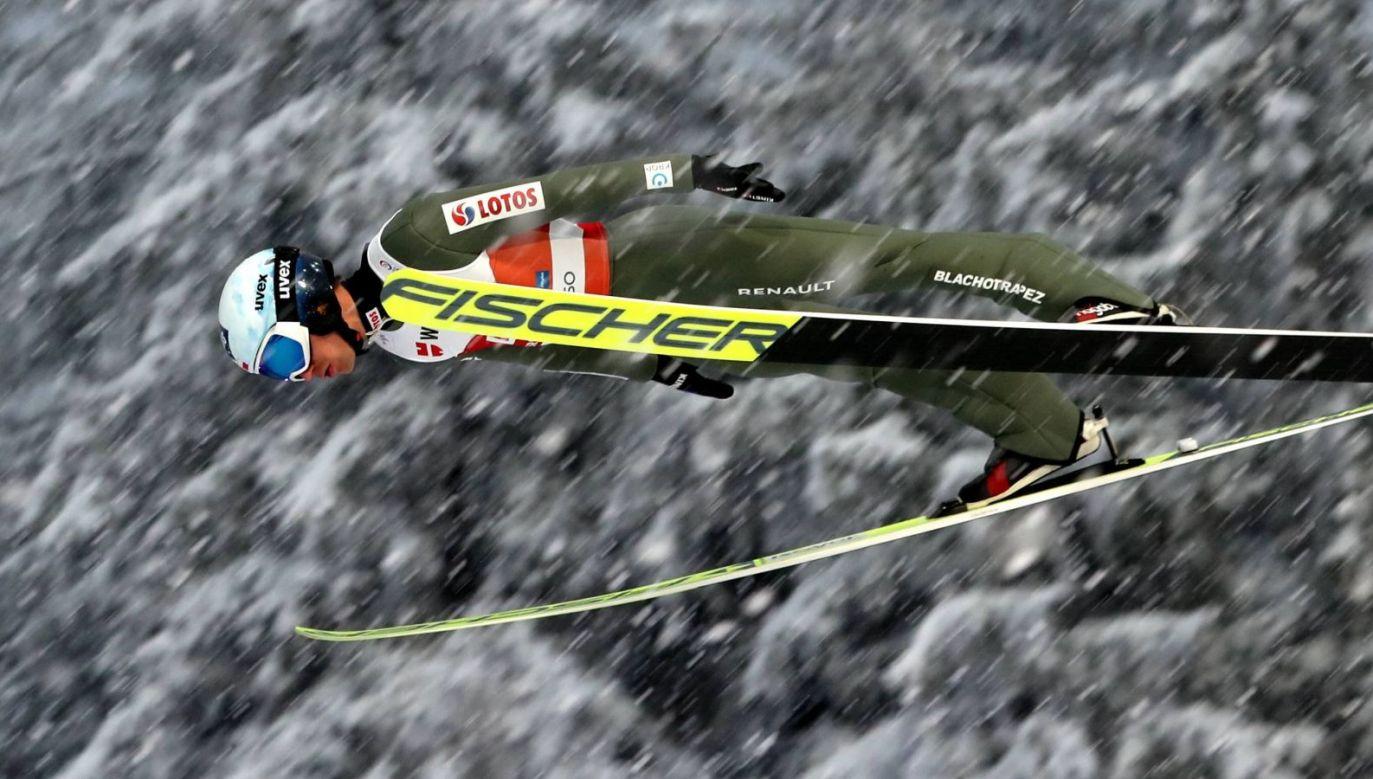Kamil Stoch w Oberstdorfie nie skacze najlepiej, ale oczywiście wystąpi w konkursie drużynowym (Fot. PAP)