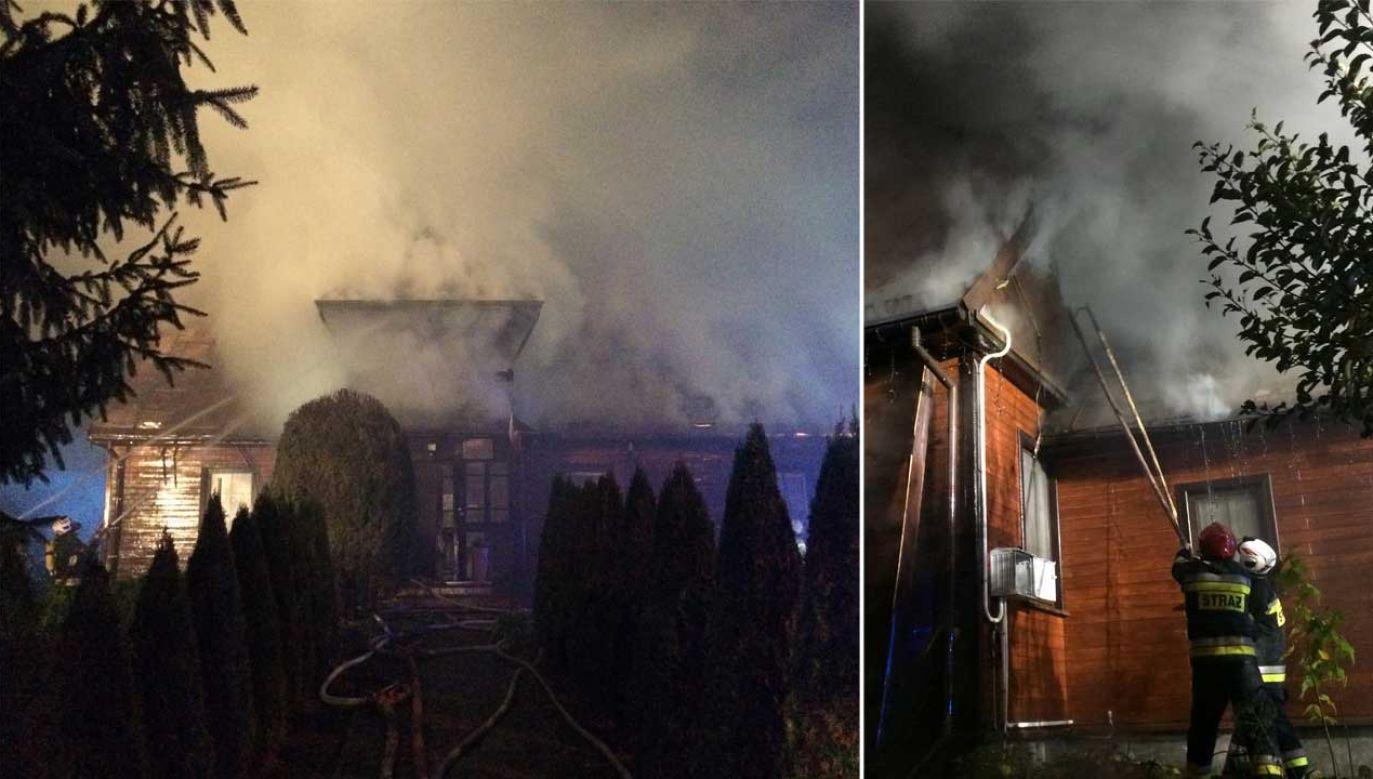 Pożar gasiło ponad 60 strażaków (fot. FB/ OSP Augustów-Lipowiec)