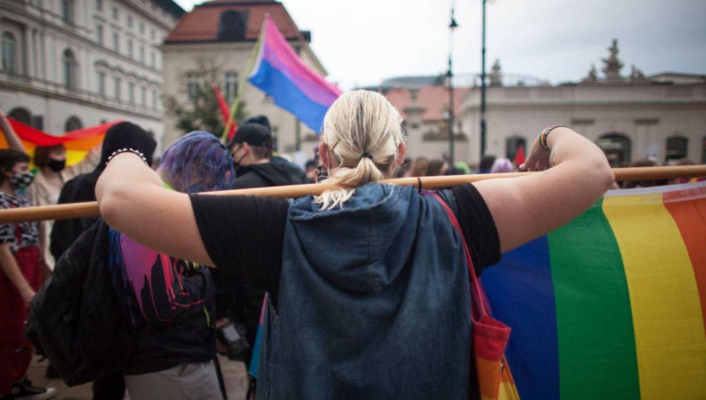 Gej o ataku lewicy i jej ideologii (fot. Maciej Luczniewski/NurPhoto via Getty Images)