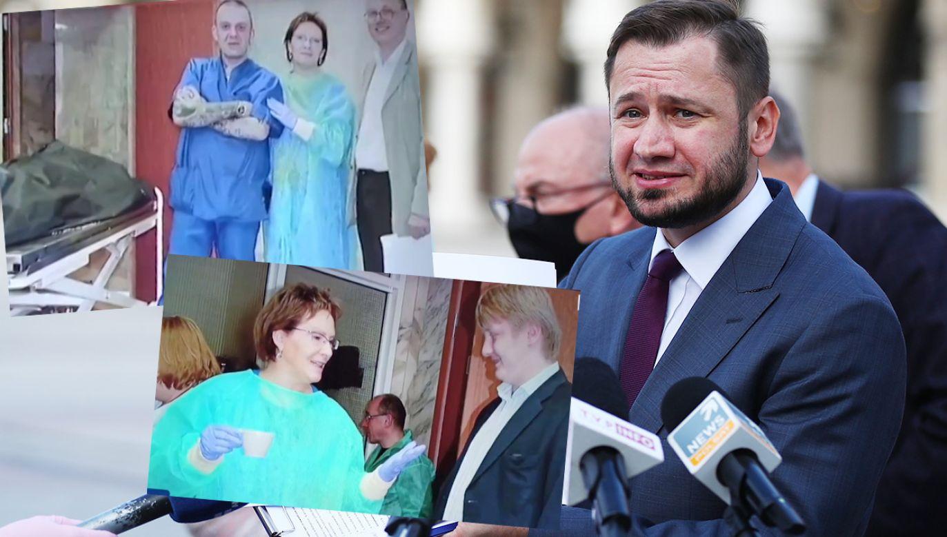 Poseł PO Aleksander Miszalski nie wyklucza, że zdjęcia Ewy Kopacz zrobiono z ukrycia (fot. PAP/Łukasz Gągulski)
