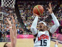 Carmelo Anthony w akcji (fot.PAP/EPA)
