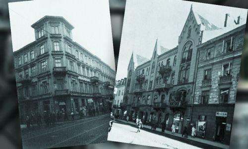 Wielka 7 róg Złotej 21, 1941 rok (z lewej) i Chmielna 43 i 41, 1938 rok (fot. APW)