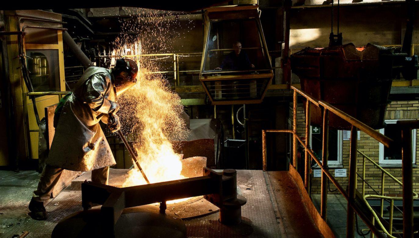 Grupa Kapitałowa KGHM w 2020 r. wyprodukowała 1352 tony srebra (fot. arch.PAP/Maciej Kulczyński)