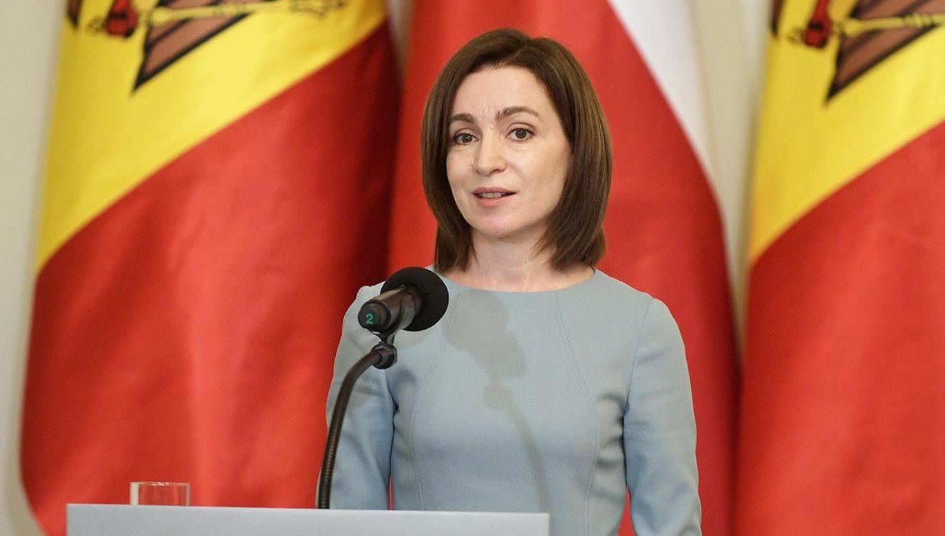 Wizyta prezydent Mołdawii w Polsce (fot.  PAP/Marcin Obara)