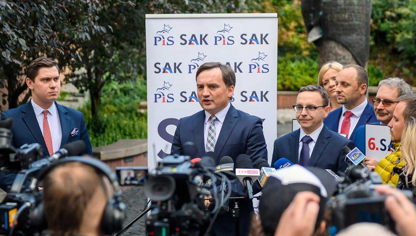 Minister sprawiedliwości Zbigniew Ziobro (fot. PAP/Paweł Topolski)