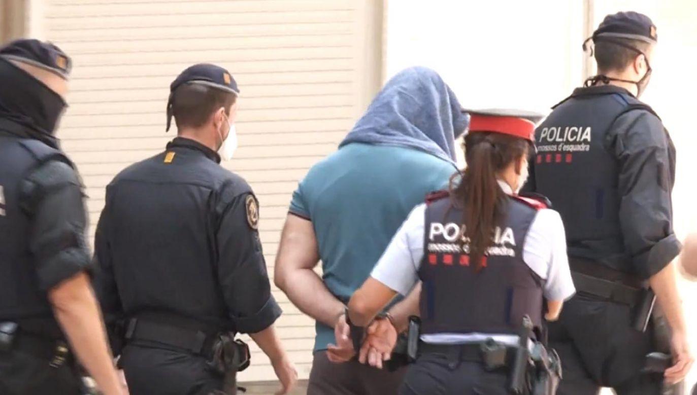 Katalońska policja zatrzymała dwóch mężczyzn podejrzanych o planowanie ataku terrorystycznego (fot. ESRTVE - RADIO TELEVISION ESPANOLA)