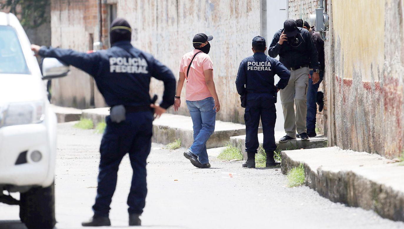 Od stycznia do czerwca 2019 r. doszło w Meksyku do 17 608 zabójstw (fot. PAP/EPA/FRANCISCO GUASCO)