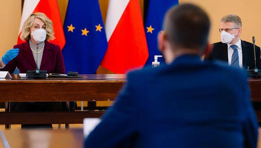 Spotkanie premiera Mateusza Morawieckiego  z przedstawicielami Pfizer Polska (fot. Krystian Maj/KPRM)