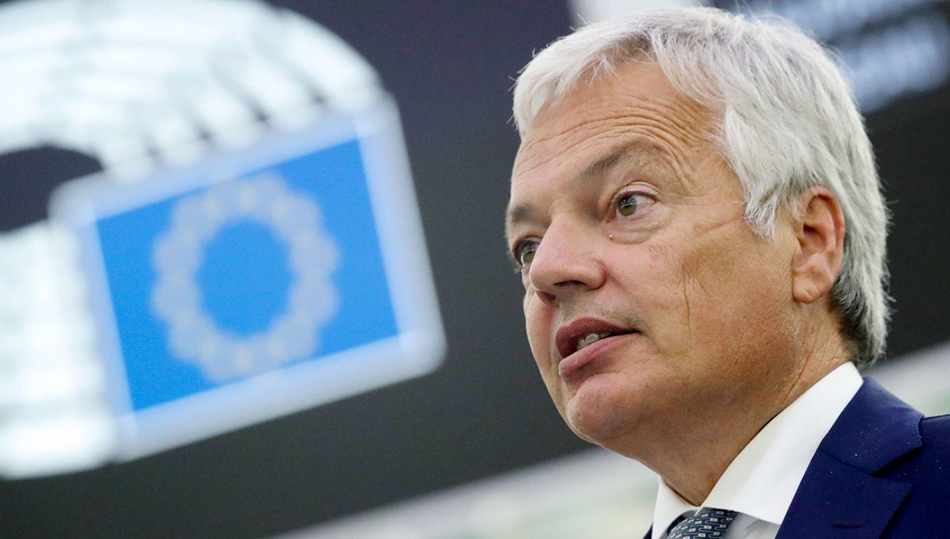 Didier Reynders (fot. PAP/EPA/YVES HERMAN / POOL)