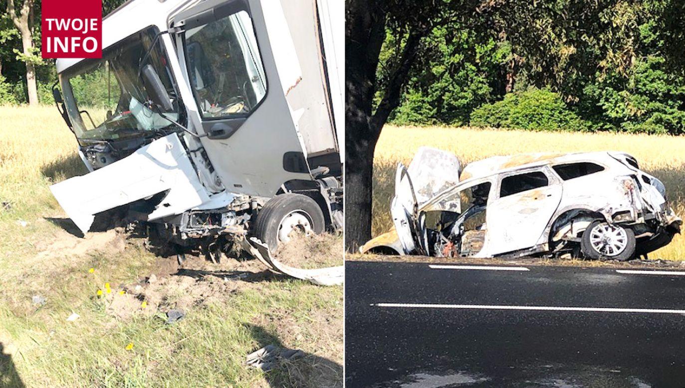 Śledczy ustalają przyczyny wypadku (fot. Twoje Info)