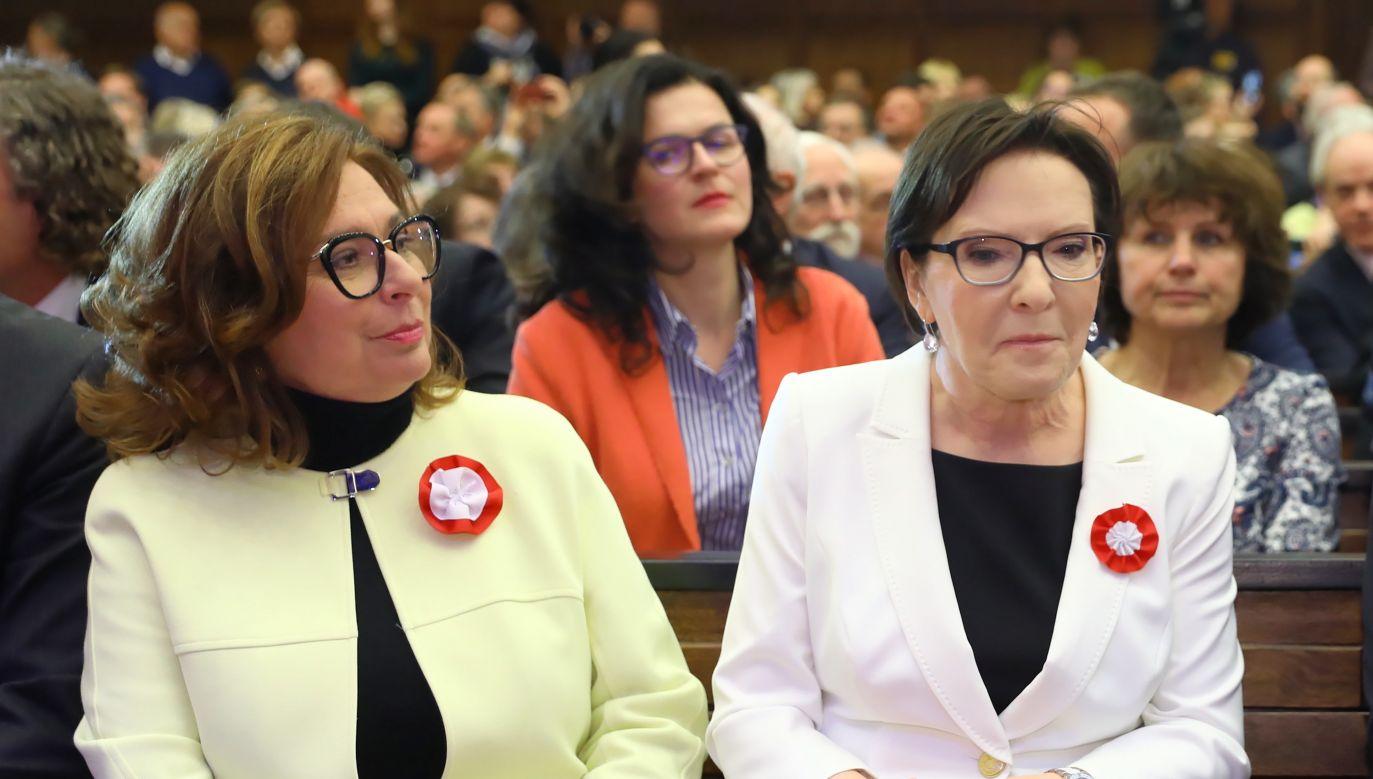 Małgorzata Kidawa-Błońska i Ewa Kopacz (fot. PAP/Rafał Guz)