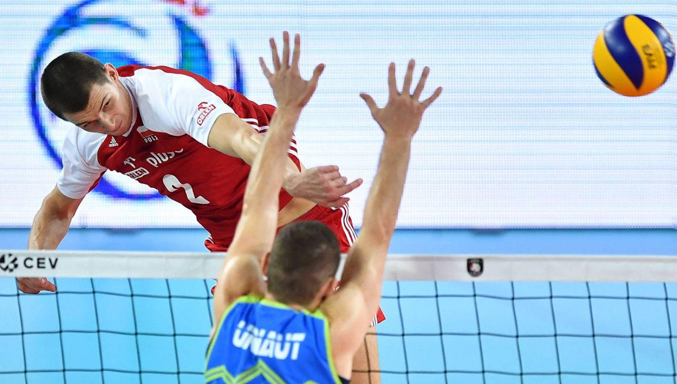 Maciej Muzaj zdobył 14 punktów i był najskuteczniejszym z Polaków (fot. arch.PAP/Maciej Kulczyński)