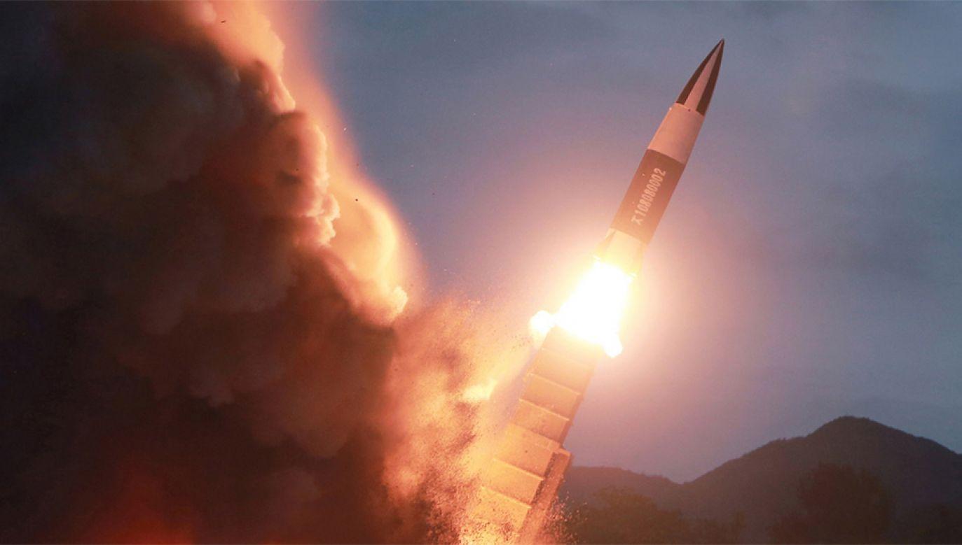 Korea Północna przeprowadziła kolejne próby rakietowe (fot.PAP/EPA/KCNA)