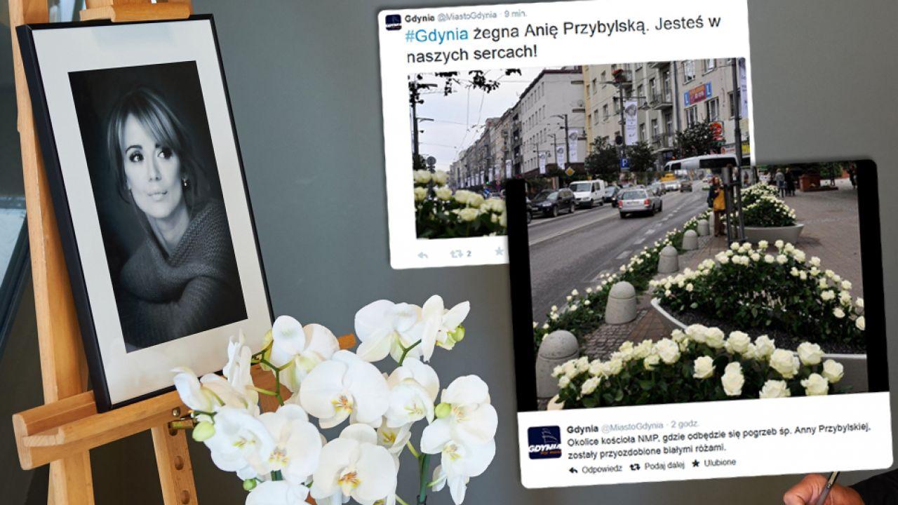 Ostatnia droga Anny Przybylskiej (fot. PAP/Adam Warżawa/Twitter)
