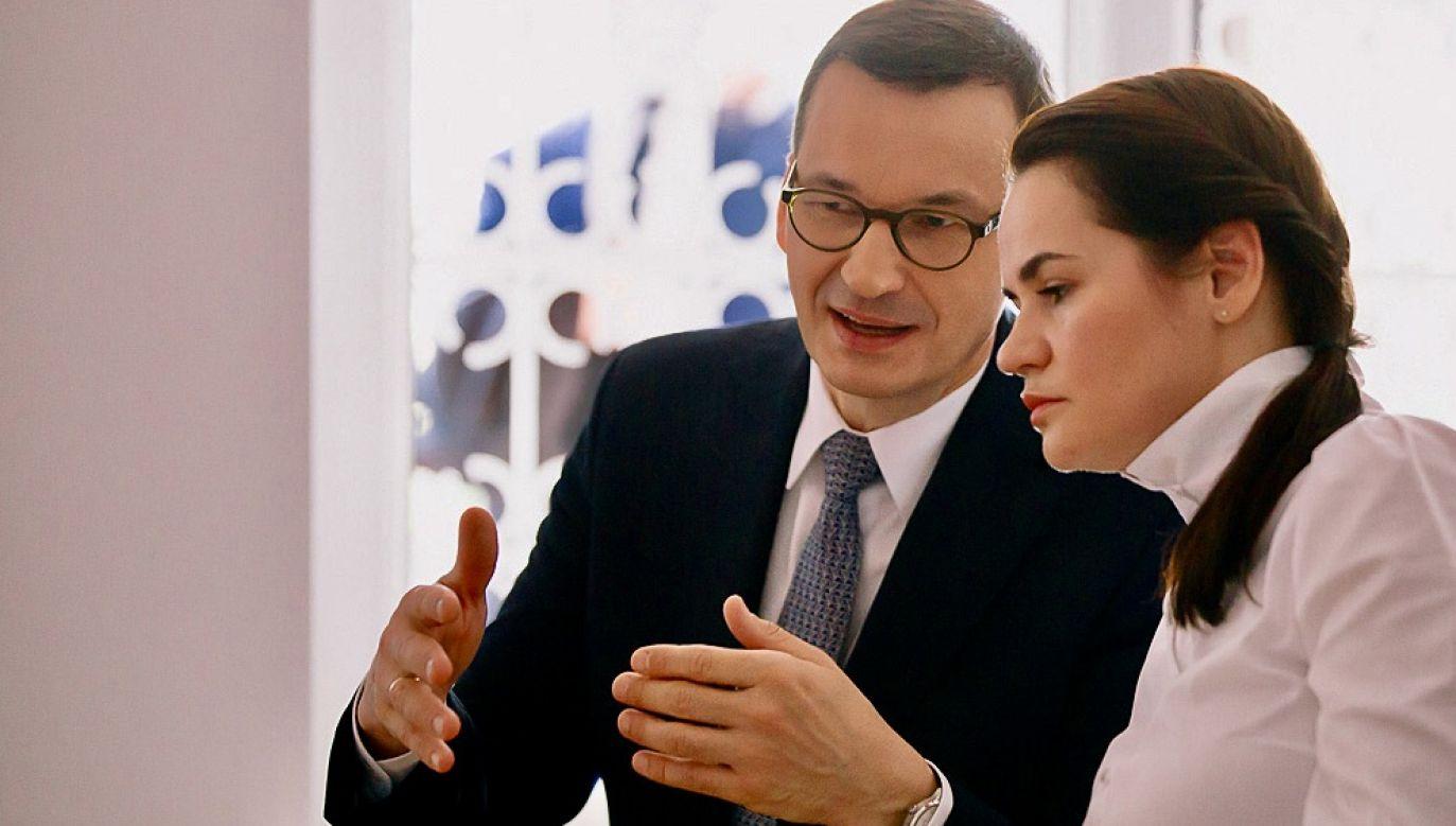 Pierwsze spotkanie polskiego premiera z liderką białoruskiej opozycji odbyło się 9 września (fot. Krystian Maj/KPRM)