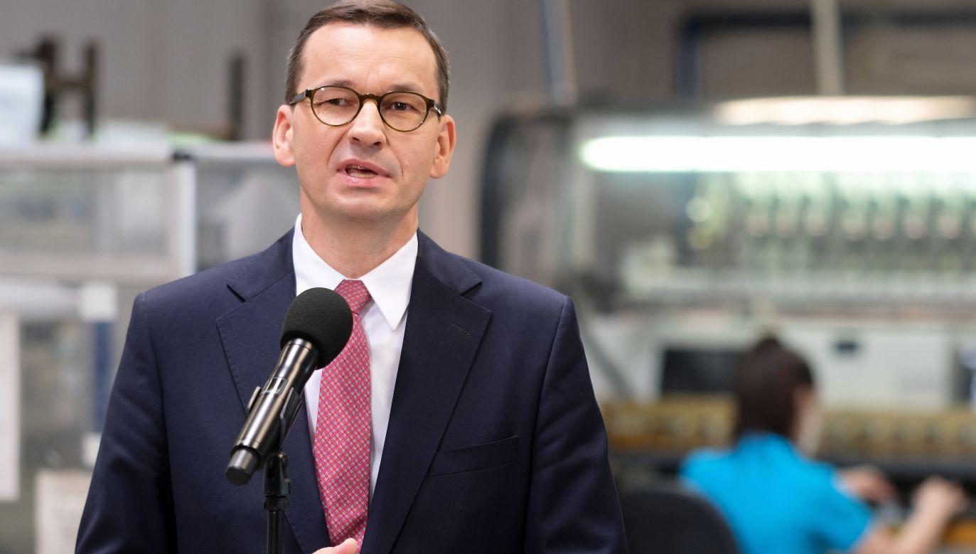 Polish PM Mateusz Morawiecki. Photo: PAP/Andrzej Grygiel