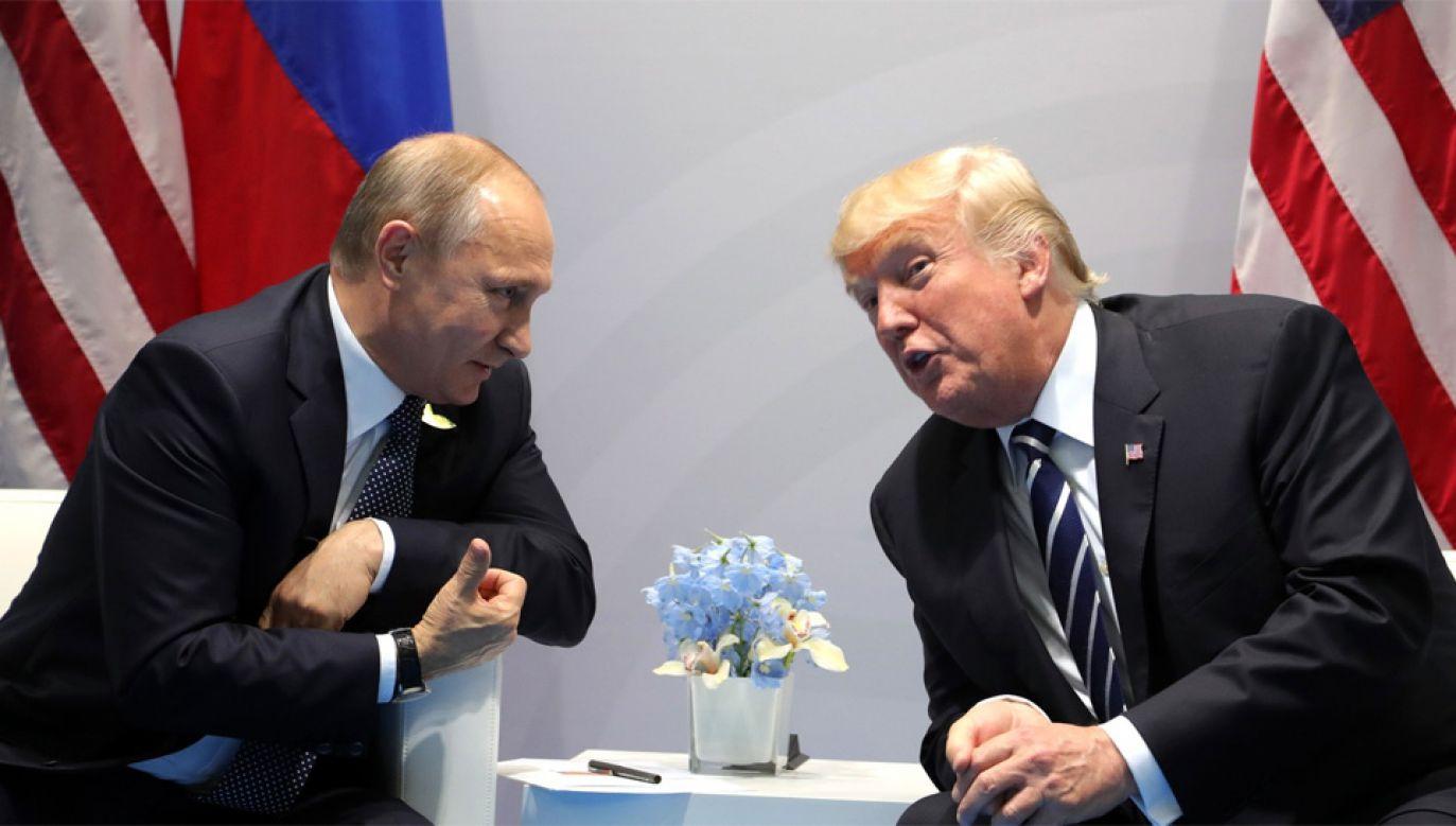 Władimir Putin i Donald Trump spotkali się w ubiegłym w Helsinkach (fot. Wiki/Kremlin.ru)