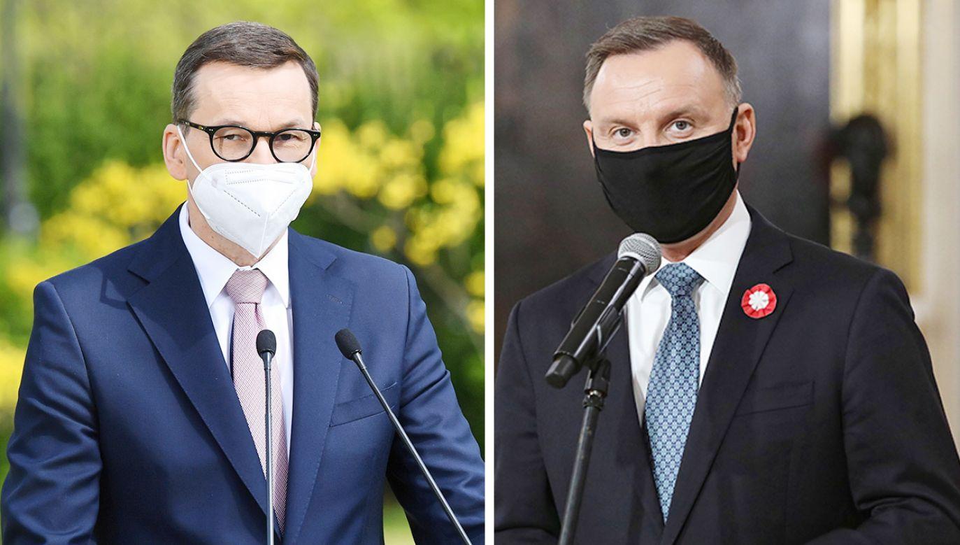 Zakończyło się spotkanie prezydenta i premiera (fot.  PAP/Radek Pietruszka; Leszek Szymański)
